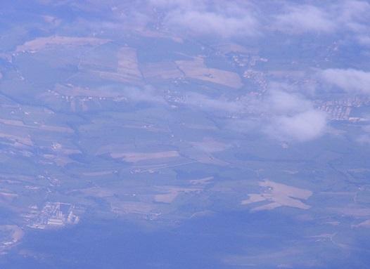 飛行機からのイタリア