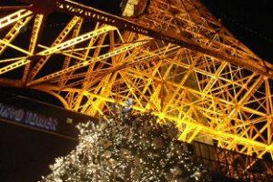 東京タワーとツリー