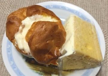 Natural Cream Kitchenのシュークリームとシフォンケーキ